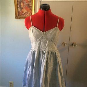 Free People railroad stripe bustier dress